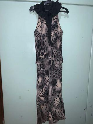 SPOTTED LONG DRESS