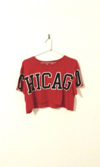 Chicago red crop top