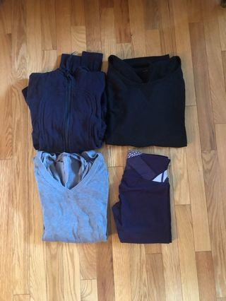 Lululemon size 2 leggings pullover sweater jacket