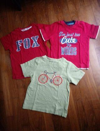 Set of 3 Mothercare, Fox kids boy tees