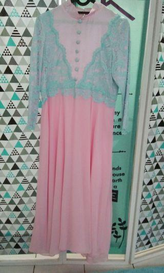 Gamis frozen pastel colour