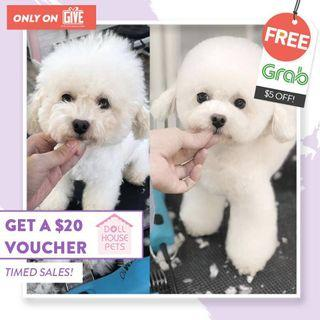 Pets Grooming + Free Grab Vouchers!