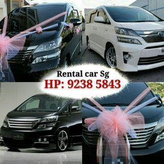 Car Rental MVP Vellfire direct WHATSAPP 92385843 Johnson.