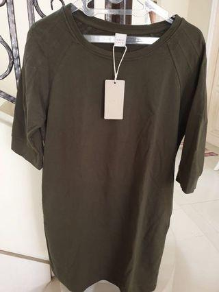 **NEW** Army Green Cotton Dress