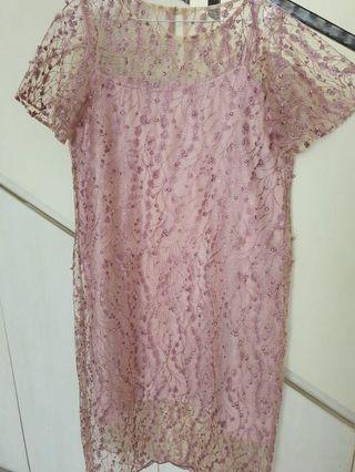 **NEW** Lacey Pink Dress