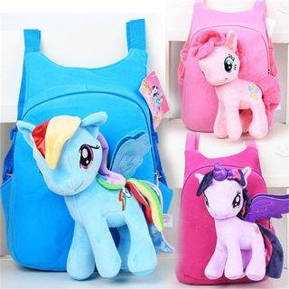 ❴READY STOCK❵🎒Toddlers Children My Little Pony 3D Plush Doll Outing School Bag
