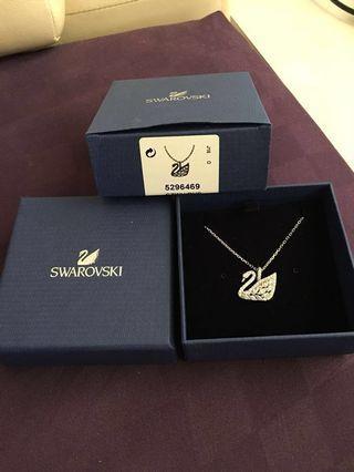 Swarovski Swan Lake White Crystal Necklace
