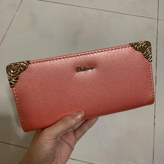 🚚 Shimmery Pink Wallet Clutch