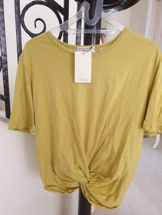 **NEW** Yellow Crop Knot Top