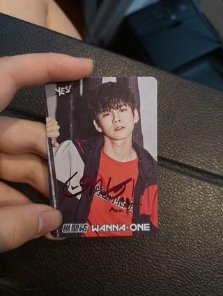 Yes card WANNAONE ong