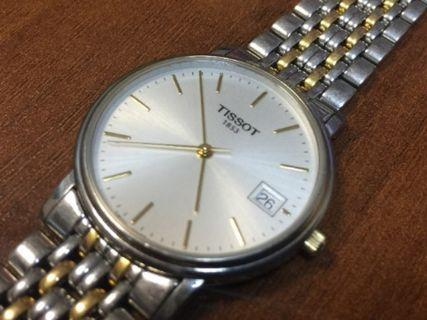 Tissot 1853 T870/970 two tone gold plated Swiss watch