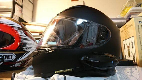 SHOEI Z7 helmet with b+com 6x headset