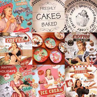 🇺🇸 美式復古America Vintage 復古金屬 大鐵盤 零食盤 雜物收納 餐桌 餐盤 大尺寸 水果盤 餐廳用 麵包