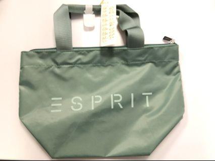 Army Green Esprit pouch clutch bag lunch bag