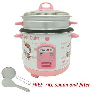 Hello Kitty Rice Cooker & Steamer 2L