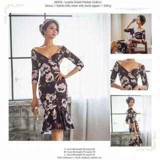 Dress 36910 - Lovely Violet Flower