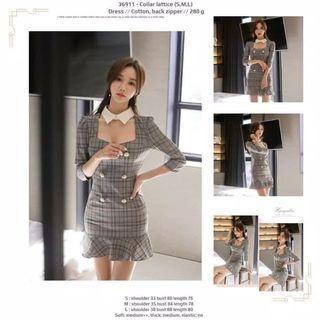 Dress 36911 - Collar lattice