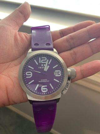 TW steel watch rubber band purple