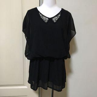 🚚 領口造型連身裙