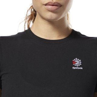 🚚 reebok classics small logo embroidered vintage grey tee shirt
