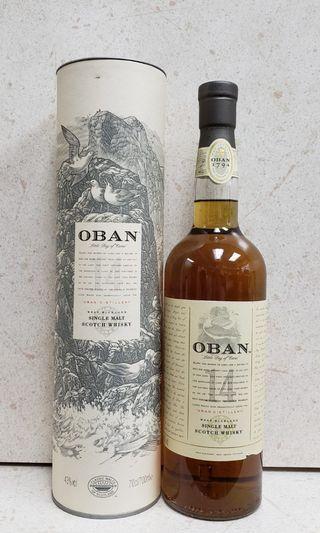 Oban 14 single malt scotch whisky
