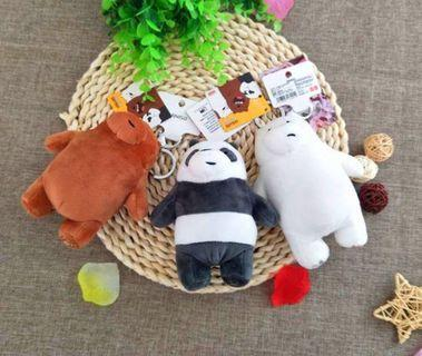 AUTHENTIC MINISO WE BARE BEARS KEYCHAIN; FREE SHIPPING!😍