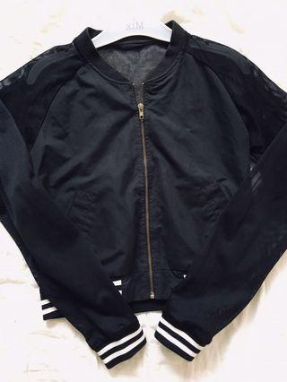Henley's mesh bomber jacket size S