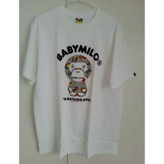 A Bathing Ape X Baby Milo Bape Tee White-Made in Japan