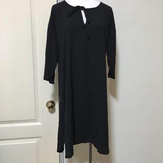 🚚 領口綁帶長洋裝