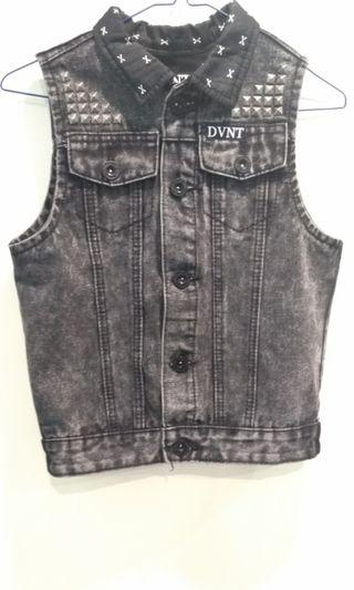 Grunge Studded Denim Vest