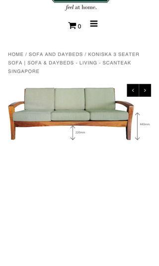 🚚 Teak Sofa 3+2+1