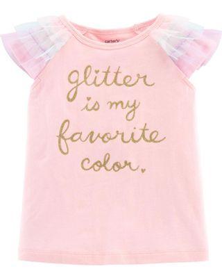 🚚 Carter's Glitter Pink Top