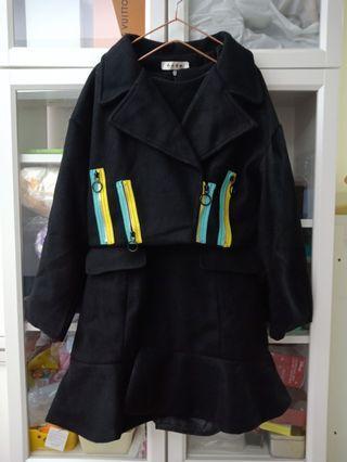 全新套裝魚尾洋+外套