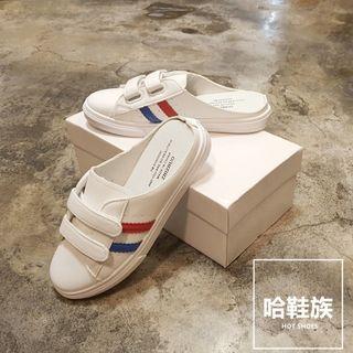 休閒風前包雙帶穆勒鞋(兩色)