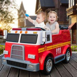 Electric Children Kids Fire Engine Bomba Truck Car ride on