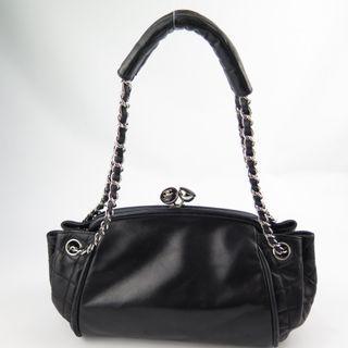 d3d1d1a4de66 Chanel Accordion Black Lambskin Chain bag 9698730