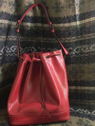 Authentic Louis Vuitton Epi Leather Red Noe Bucket Bag
