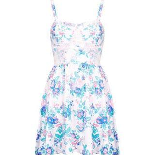 Topshop Petite Eyelash Bustier Dress