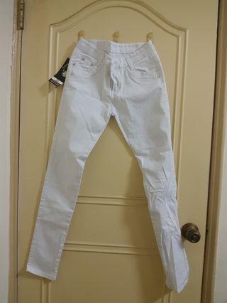 全新❤白色鉛筆褲