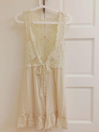 🚚 日本🇯🇵帶回 編織超精緻蕾絲罩衫超適合夏天涼爽氣質