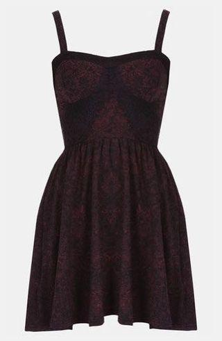 🚚 Topshop Eyelash Lace Bustier Dress in Pink / Black