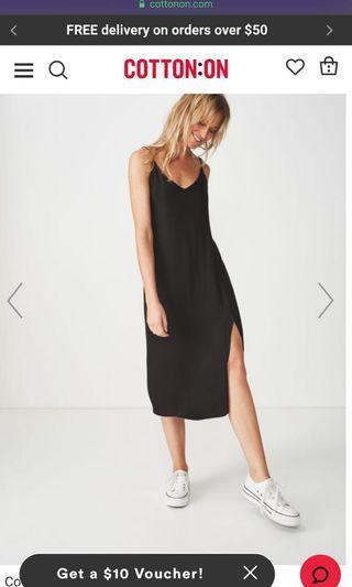 🚚 Woven Bloom Maxi Slip Dress