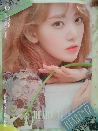 WTS IZ*ONE HEART*IZ  OFFICIAL POSTER SAKURA AND MINJU
