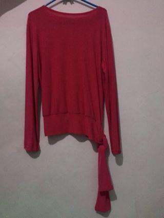 Baju blouse ukuran mengikuti badan