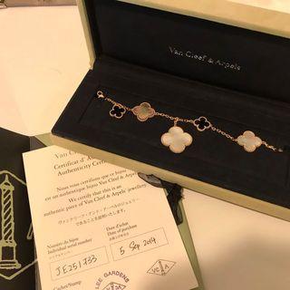 VAN CLEEF & ARPELS Mother of Pearl Magic Alhambra Bracelet 5枚墜飾手鏈