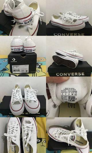 Sepatu Converse low optical white