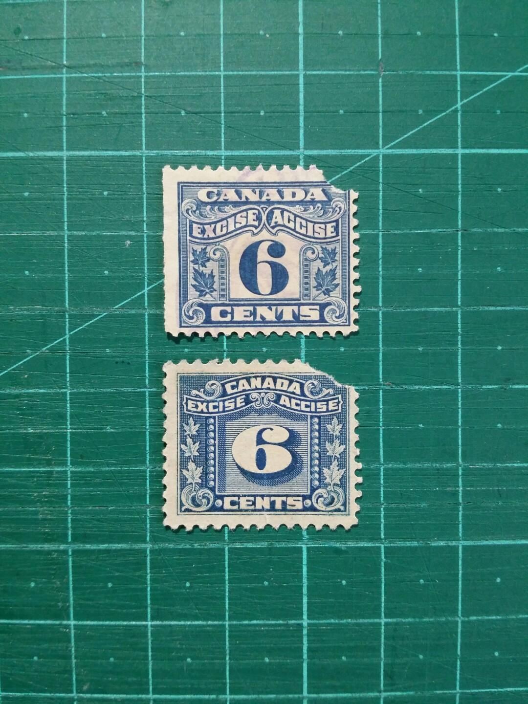 [贈品]1915-23 加拿大 稅票 舊票兩枚(缺陷品)