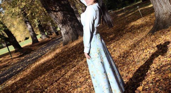 Vintage blue flower gown