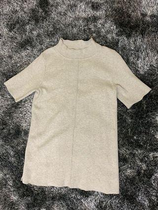Gray Semi Turle Neck-thick cloth, Fits XS-S body frame