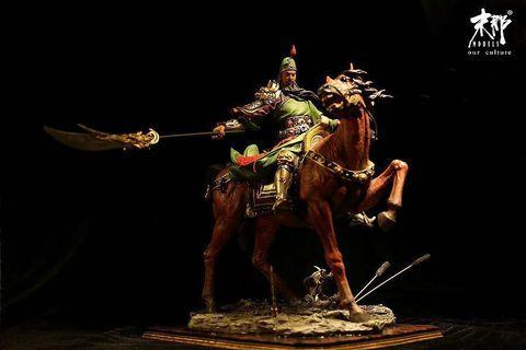 Guan Yu Statue. Limited edition and self-painted. Very rare